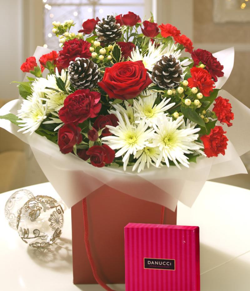 TRADITIONAL CHRISTMAS FLOWERS. Click to enlarge