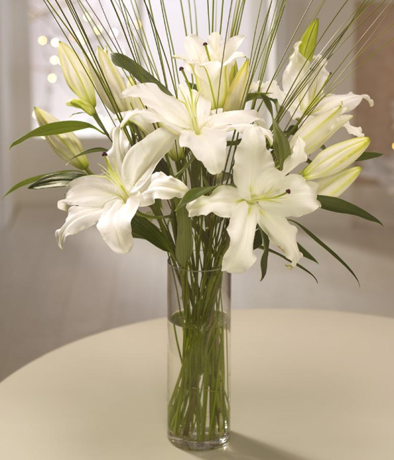 LILY VASE ARRANGEMENT. Click to enlarge